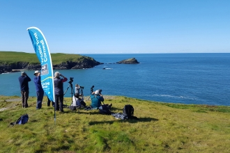 Public Seaquest sea watch at West Pentire near Crantock, photo by Katie Bellman
