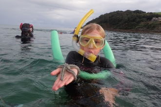 Snorkel finds with a Your Shore Beach Rangers event, photo by Cornwall Wildlife Trust