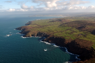 North Penwith coast looking east showing granite cliffs. Photo Cornwall County Historic Environment Service
