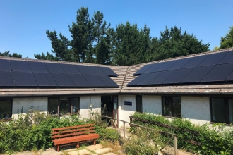 Solar panels at Cornwall Wildlife Trust Head Offices 1