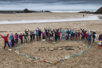 Volunteers celebrate Love Your Beach Day in Bude