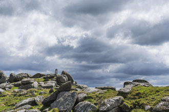 A dramatic shot of Helman Tor, one of Cornwall's County Geology Sites