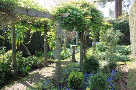 Pillars of interest at Trenarth Open Garden