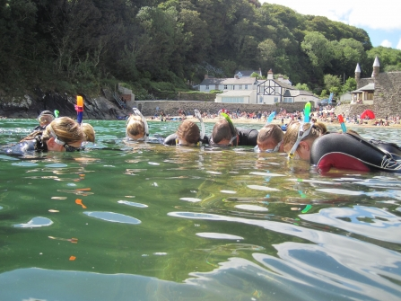 Cornwall Wildlife Trust Snorkel Safari. Photo by Abby Crosby