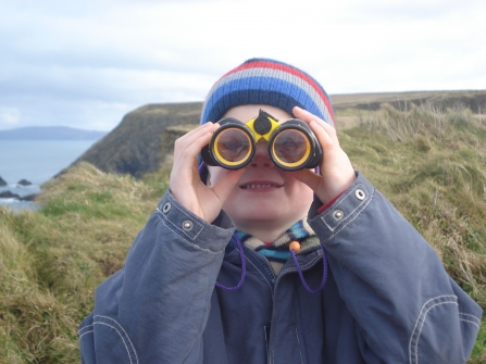 Wildlife Watch - A budding young birdwatcher, photo by Ruth Williams