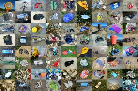 Items found on beach cleans during the summer of 2020